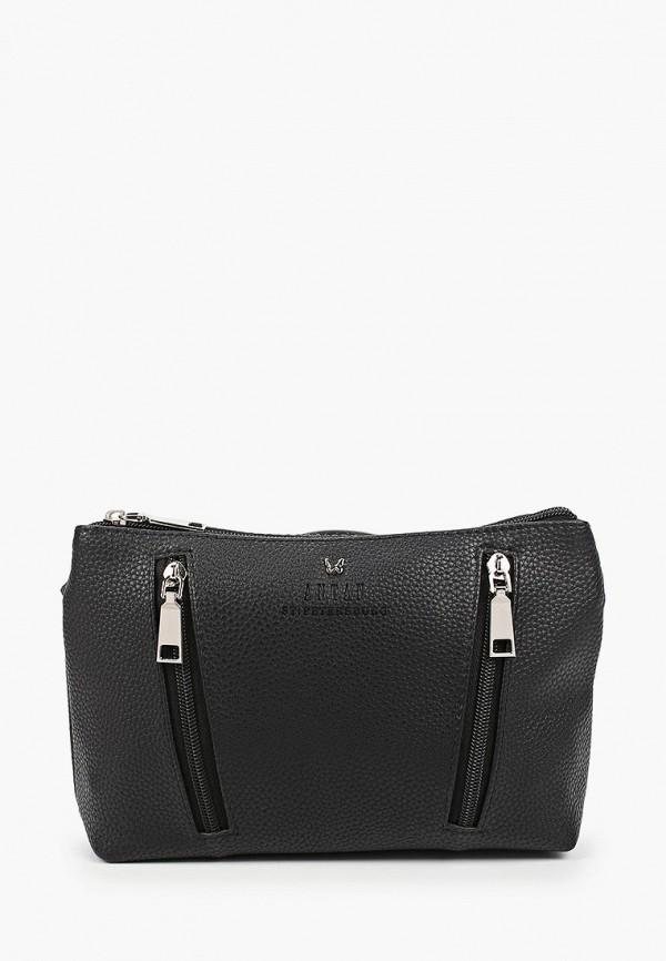 женская сумка через плечо antan, черная