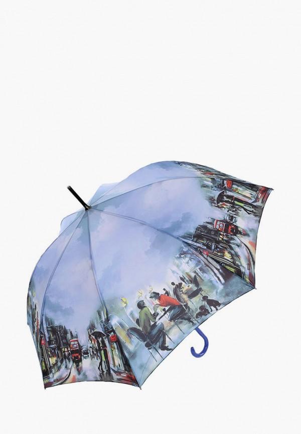 женский зонт-трости lamberti, голубой
