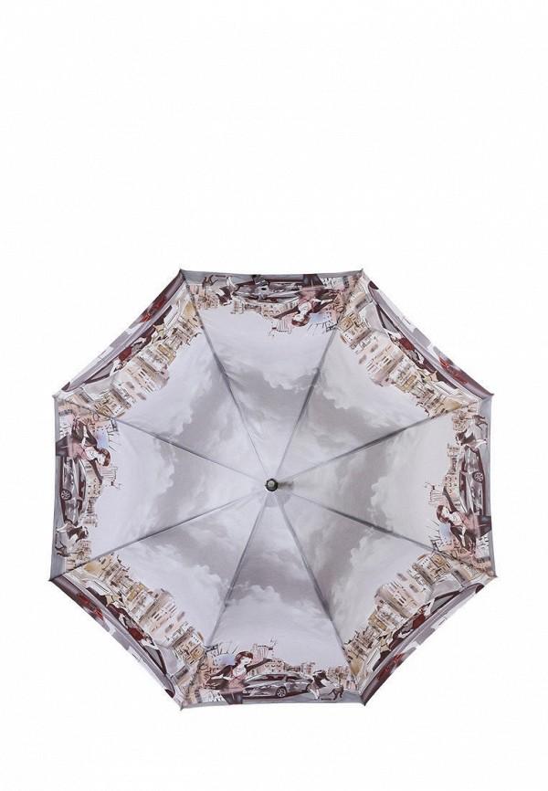 женский зонт-трости lamberti, серый