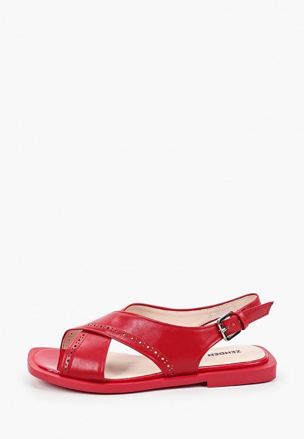 женские сандалии zenden, красные