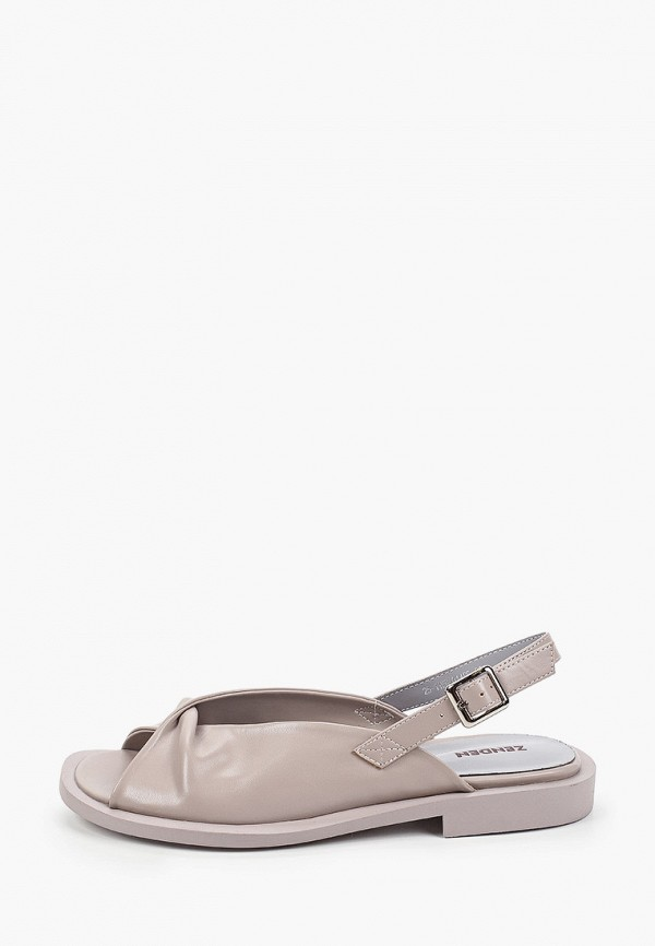 женские сандалии zenden, серые