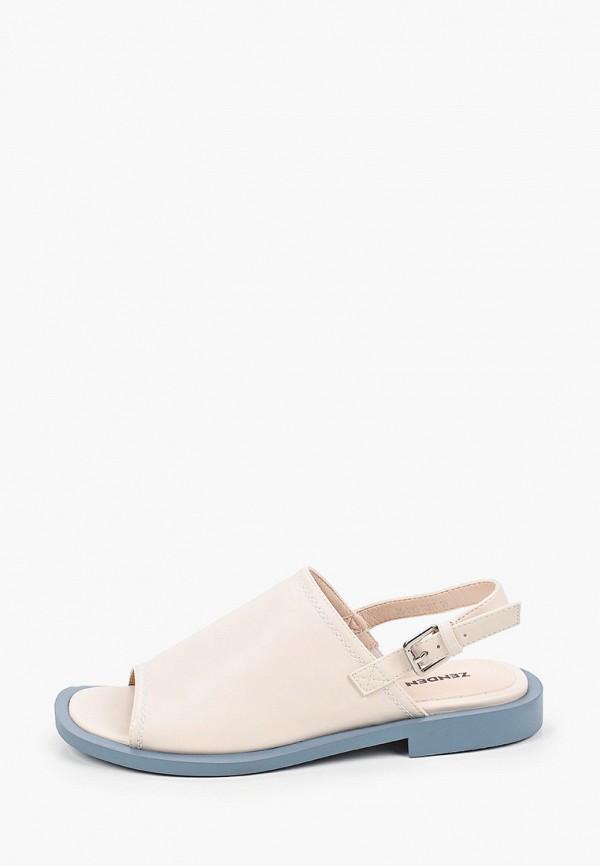 женские сандалии zenden, бежевые