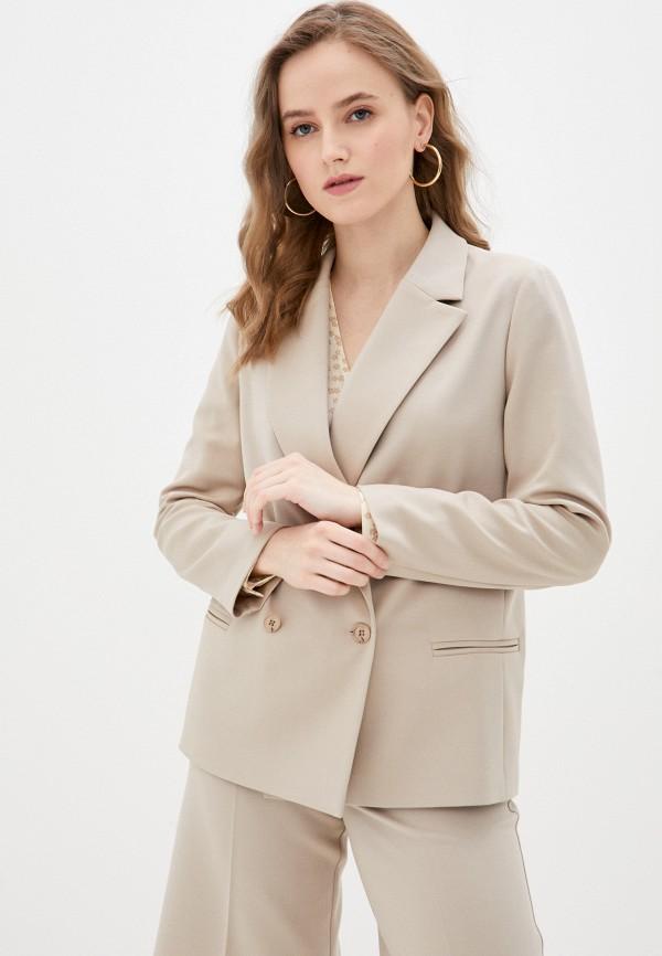 женский пиджак delia, бежевый
