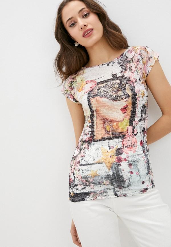 женская футболка emansipe, разноцветная