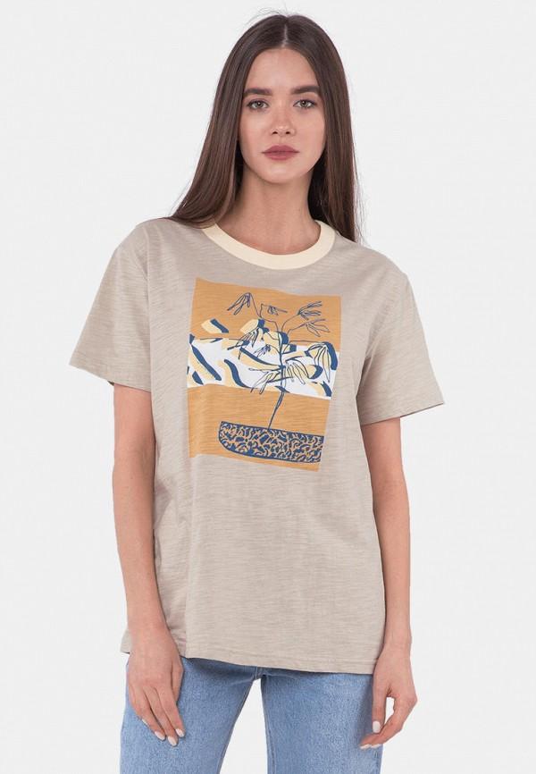 женская футболка mr520, бежевая