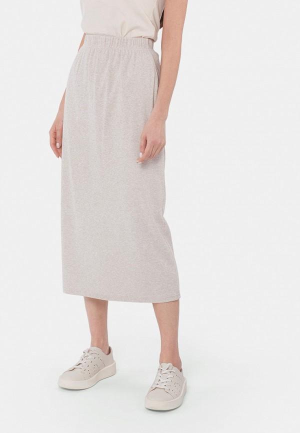 женская прямые юбка mr520, бежевая