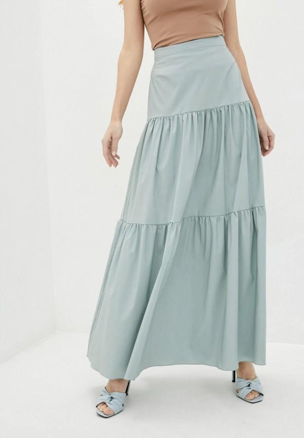 женская юбка week, бирюзовая