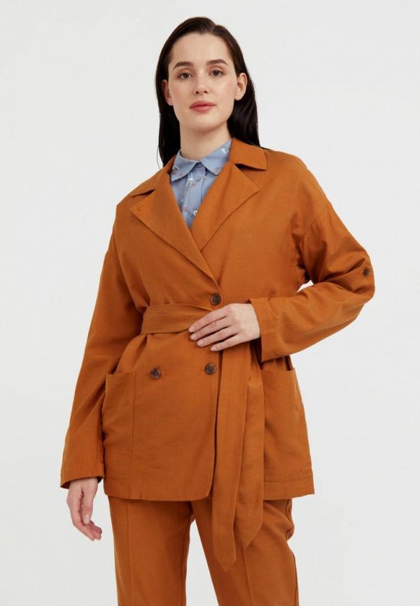 Жакет Finn Flare коричневого цвета