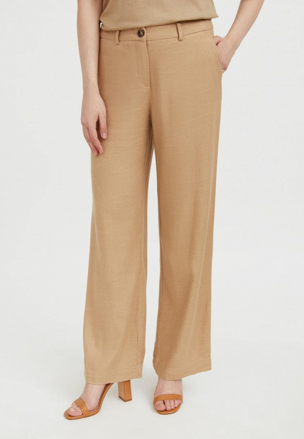 женские брюки клеш finn flare, бежевые