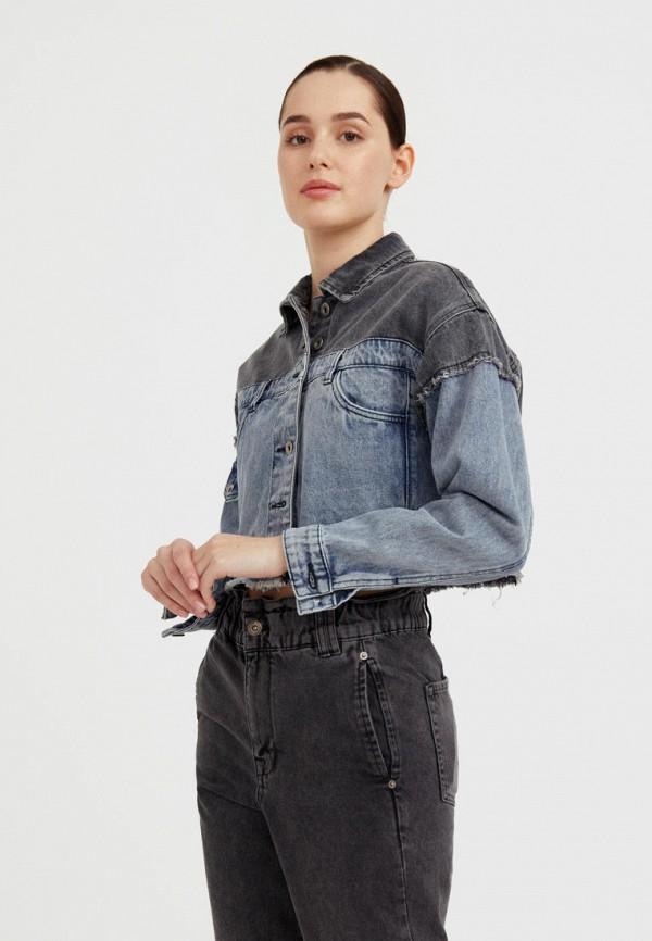 Куртка джинсовая Finn Flare разноцветного цвета