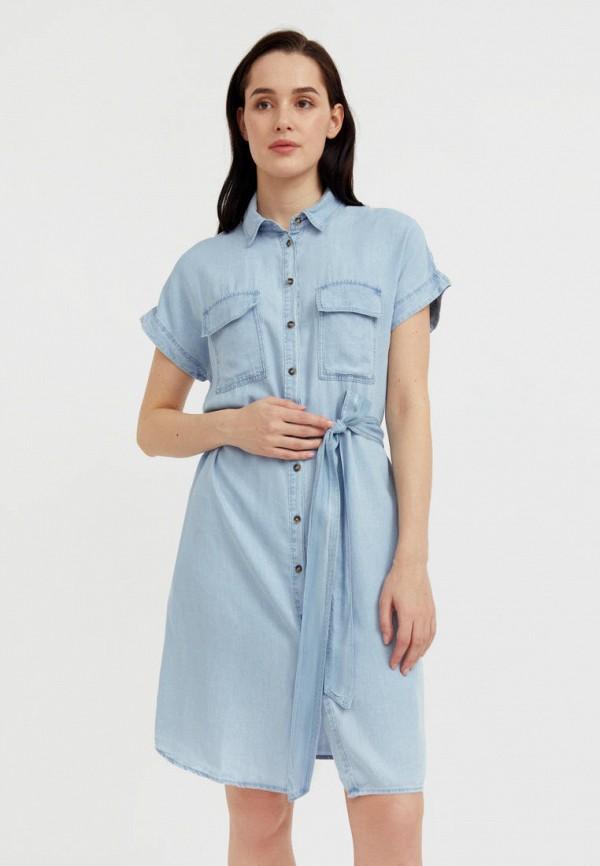 Платье джинсовое Finn Flare голубого цвета