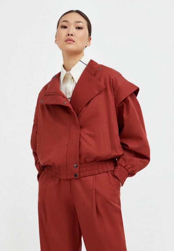 Куртка Finn Flare коричневого цвета
