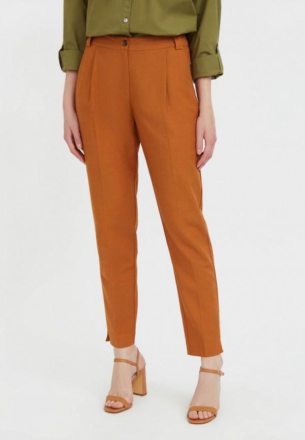 женские зауженные брюки finn flare, коричневые