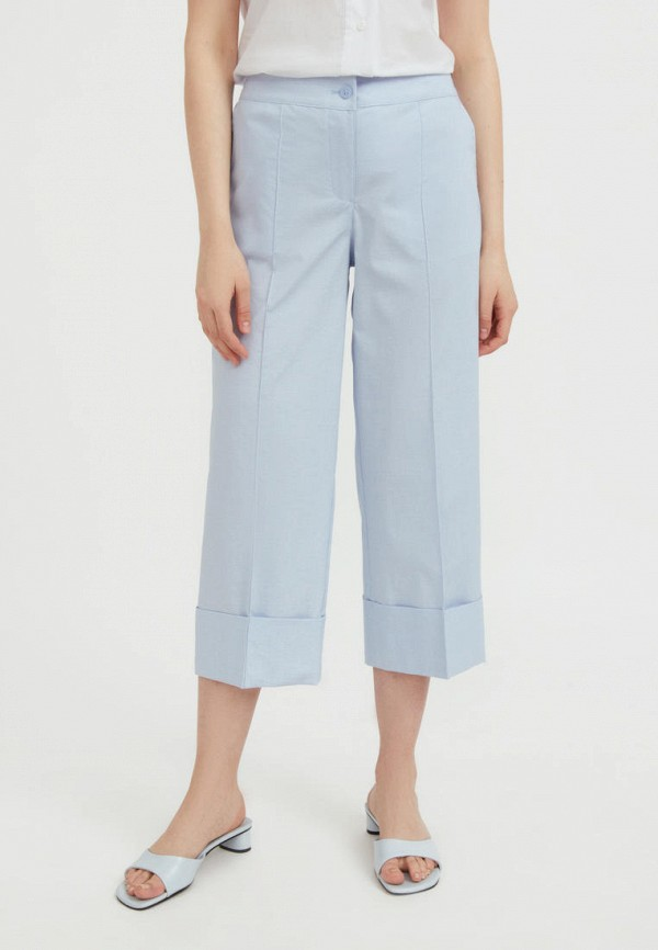 женские брюки клеш finn flare, голубые