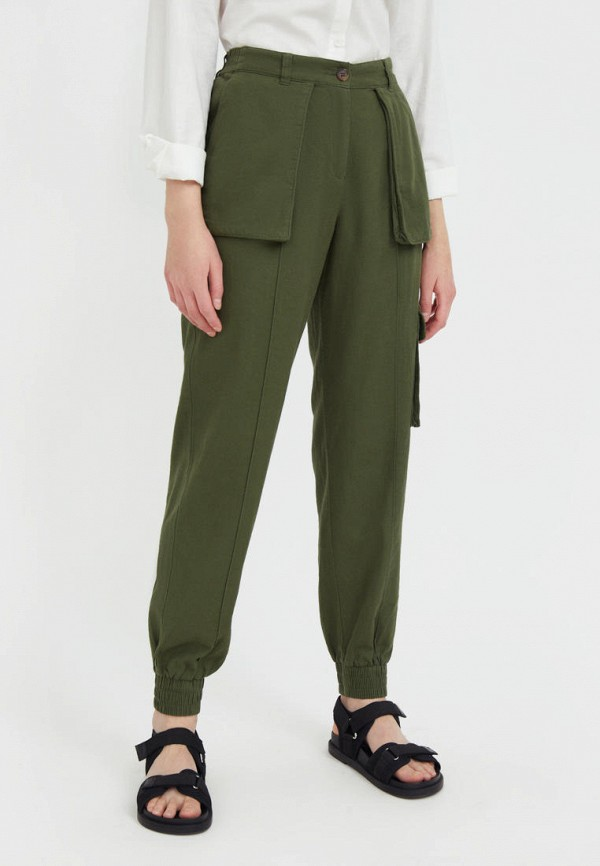 женские брюки карго finn flare, хаки