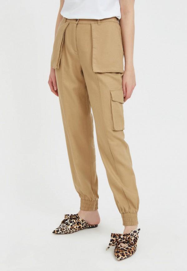 женские брюки карго finn flare, бежевые