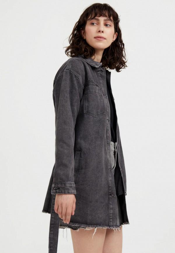 Куртка джинсовая Finn Flare серого цвета