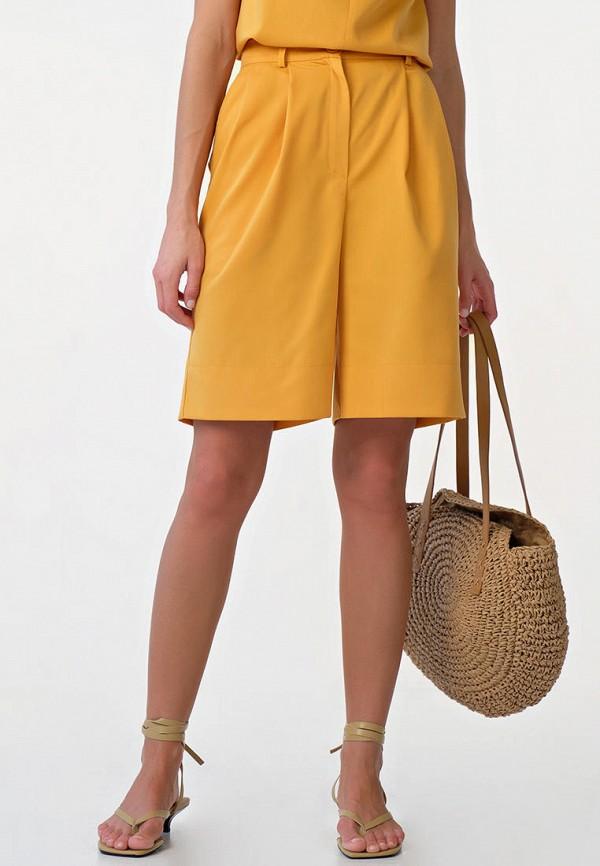 женские повседневные шорты fly, желтые