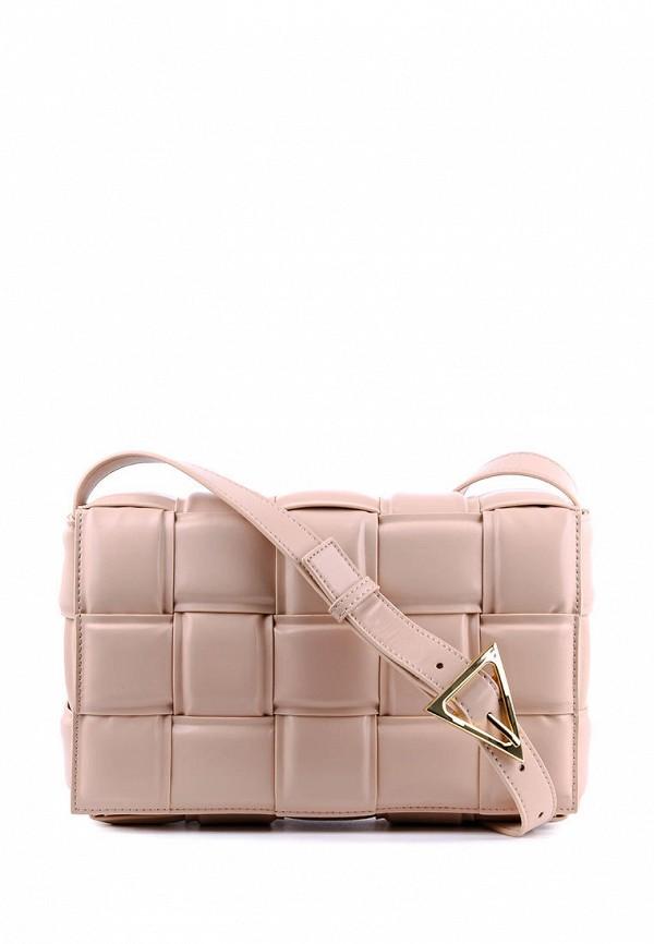 женская сумка leberdes, розовая