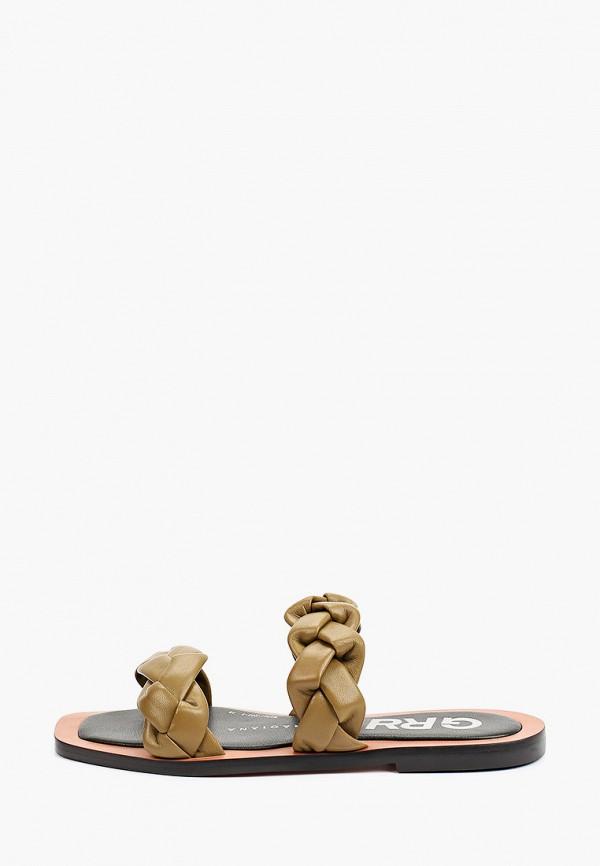 женское сабо graciana, коричневое