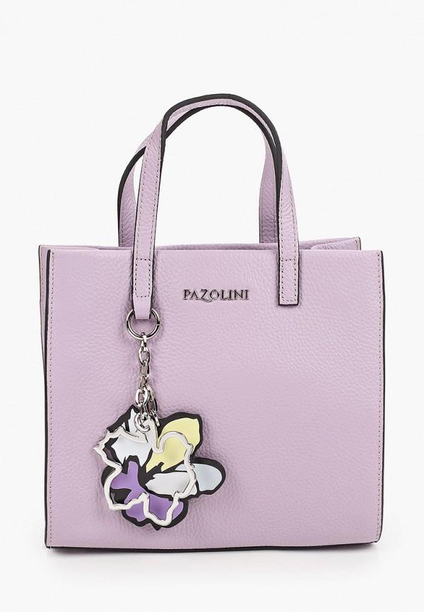 женская сумка с ручками pazolini, фиолетовая