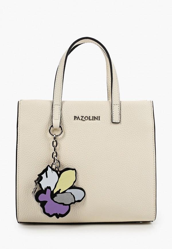 женская сумка с ручками pazolini, белая