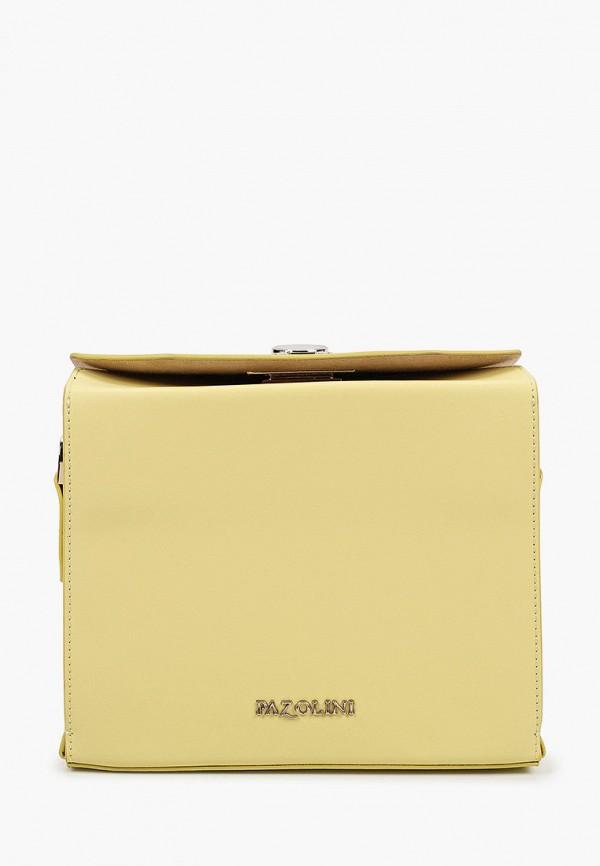 женская сумка с ручками pazolini, желтая