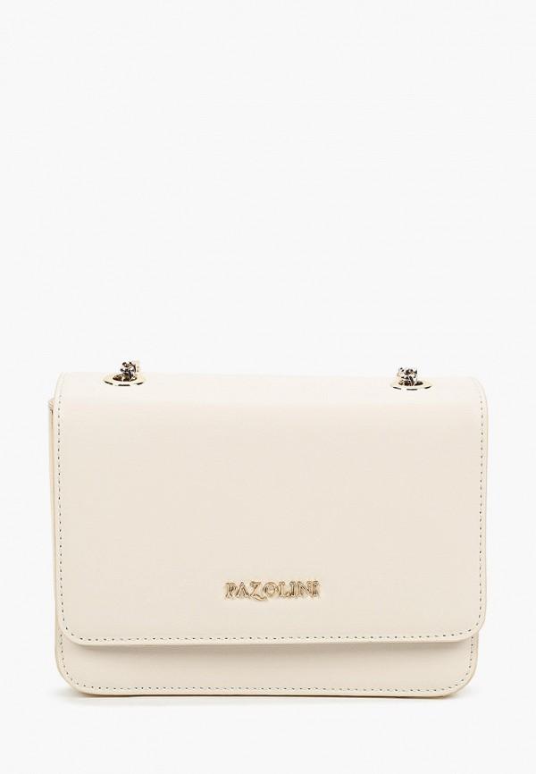 женская сумка через плечо pazolini, белая