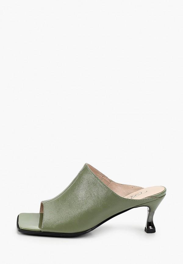 женское сабо berkonty, зеленое