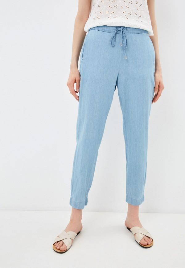 женские брюки джоггеры baon, голубые