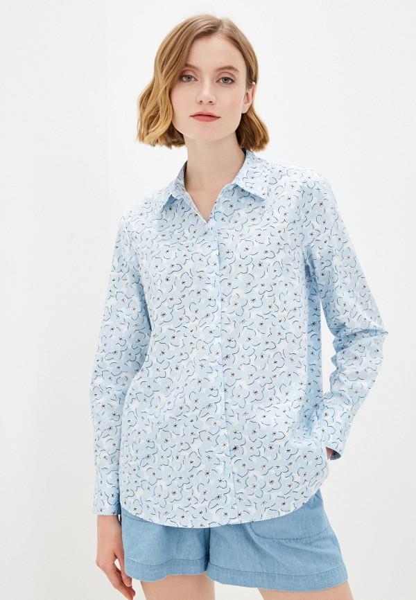женская рубашка baon, голубая