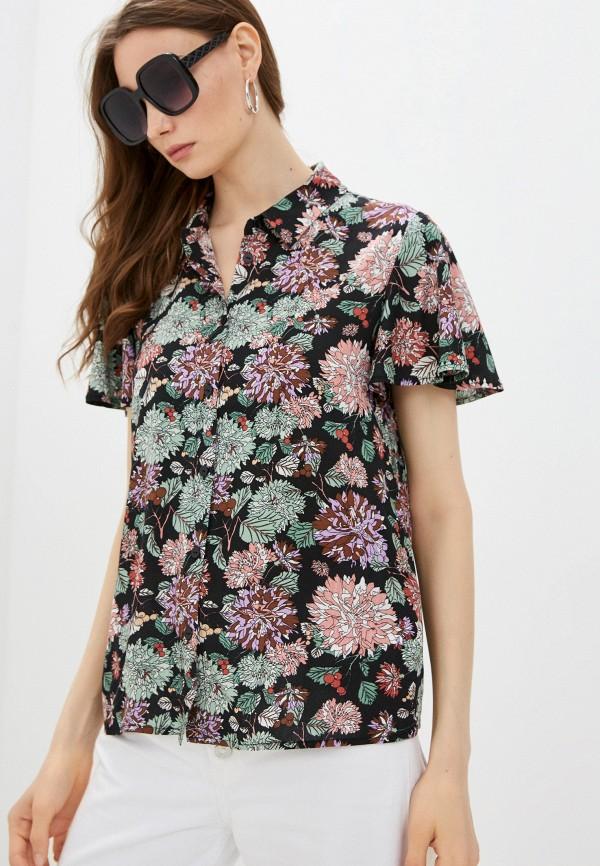 женская блузка с коротким рукавом baon, черная