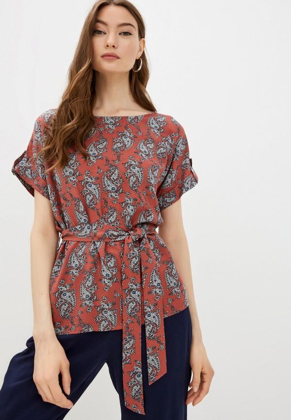женская блузка с коротким рукавом baon, бордовая