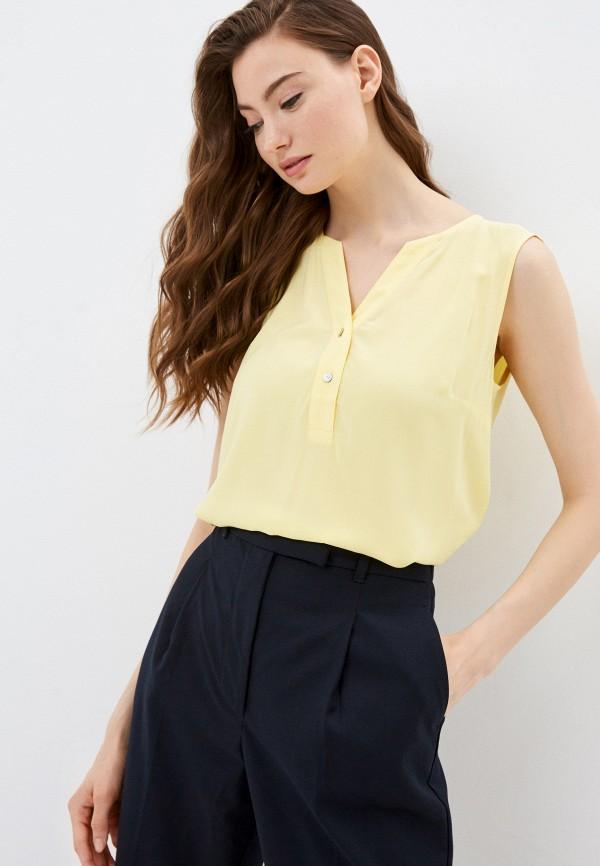 женская блузка без рукавов baon, желтая