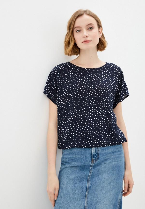 женская блузка с коротким рукавом baon, синяя