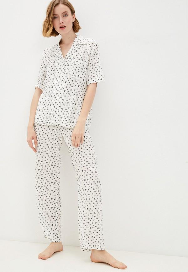 женская пижама baon, белая
