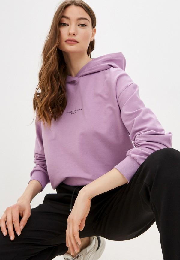 женские худи baon, фиолетовые