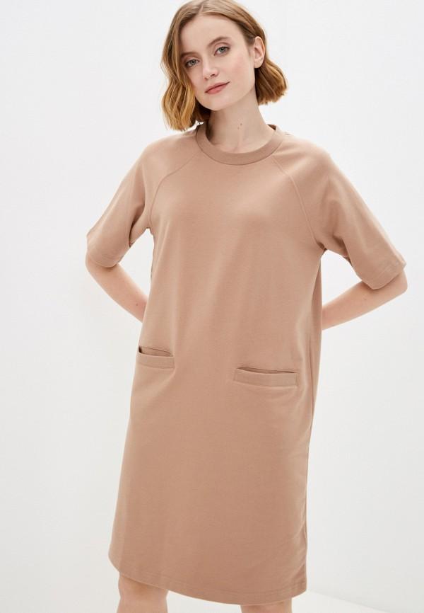 женское платье-футболки baon, бежевое