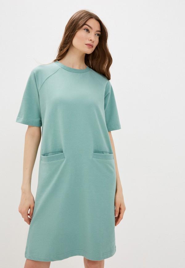 женское платье-футболки baon, зеленое