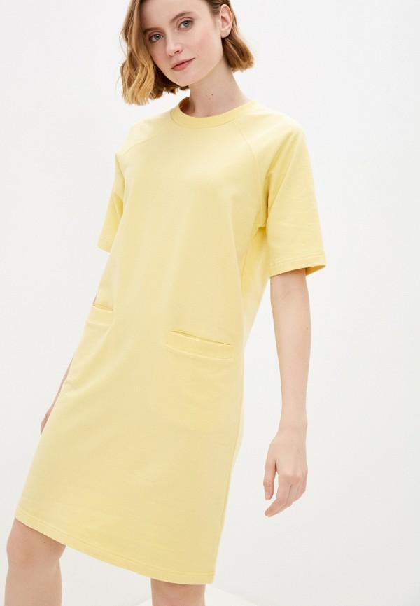 женское платье-футболки baon, желтое