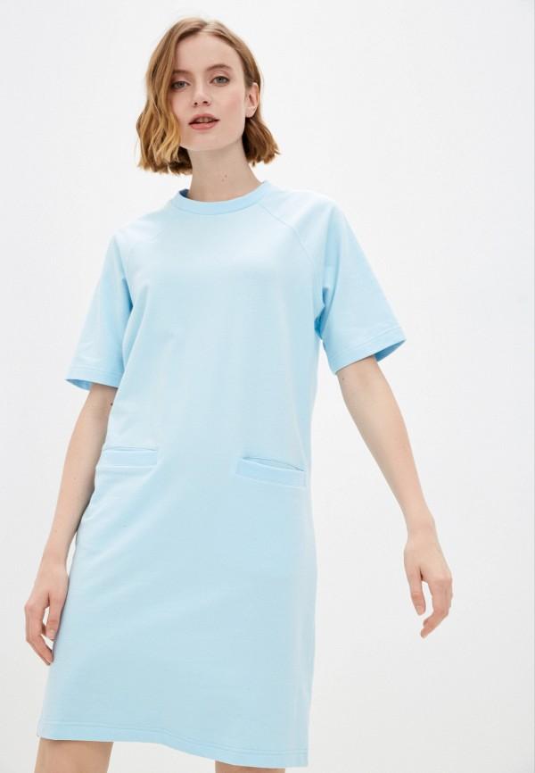 женское платье-футболки baon, голубое