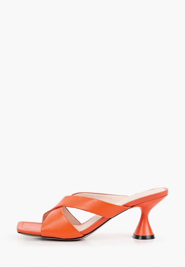 женское сабо berkonty, оранжевое