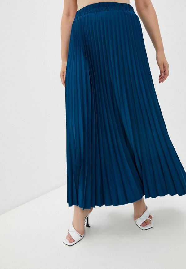 женская плиссированные юбка полное счастье, синяя