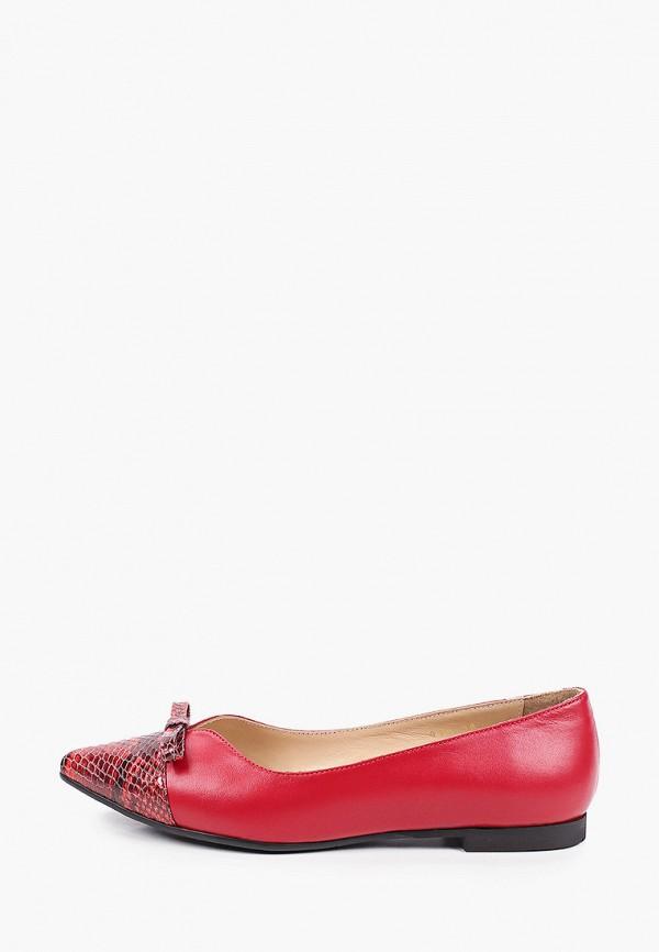 женские туфли с закрытым носом hestrend, красные