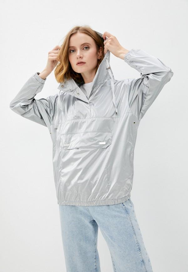 женская куртка анораки stillini, серебряная