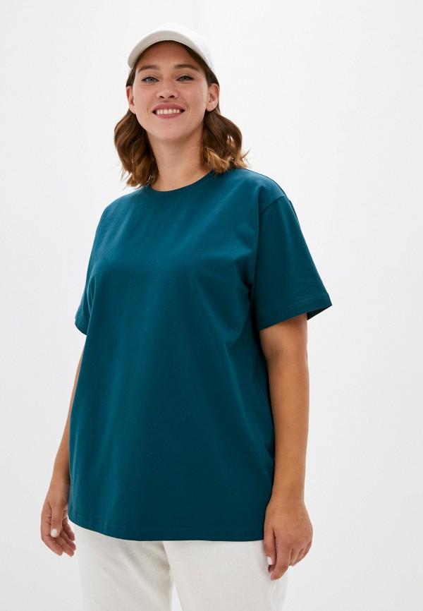 женская футболка delori, бирюзовая