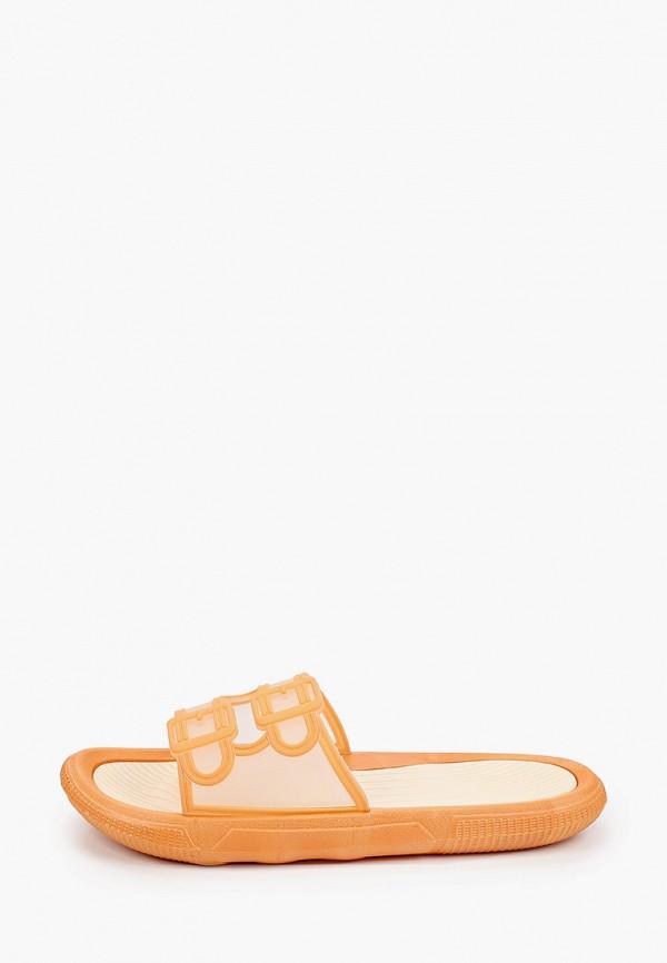 женские сланцы kellis, оранжевые