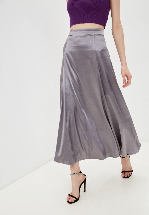 женская юбка-трапеции christina shulyeva, серебряная