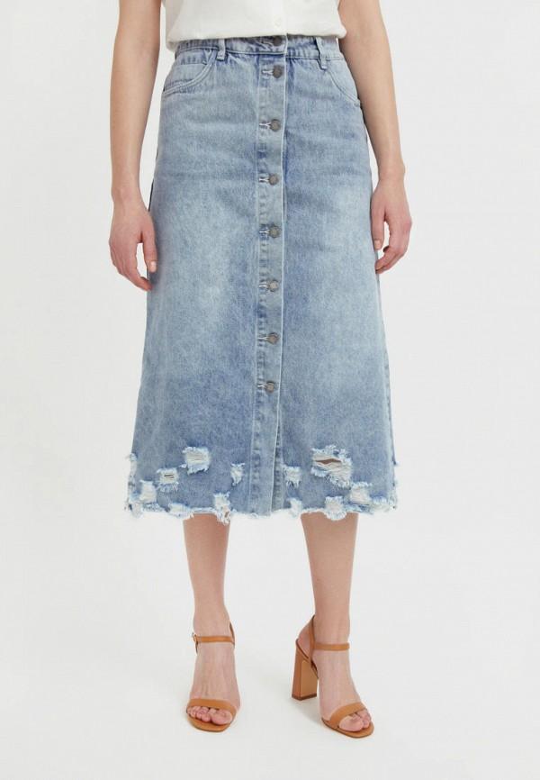 Юбка джинсовая Finn Flare голубого цвета
