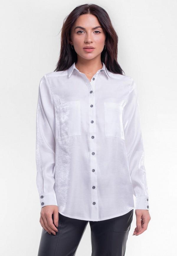 женская рубашка с длинным рукавом bessa, белая
